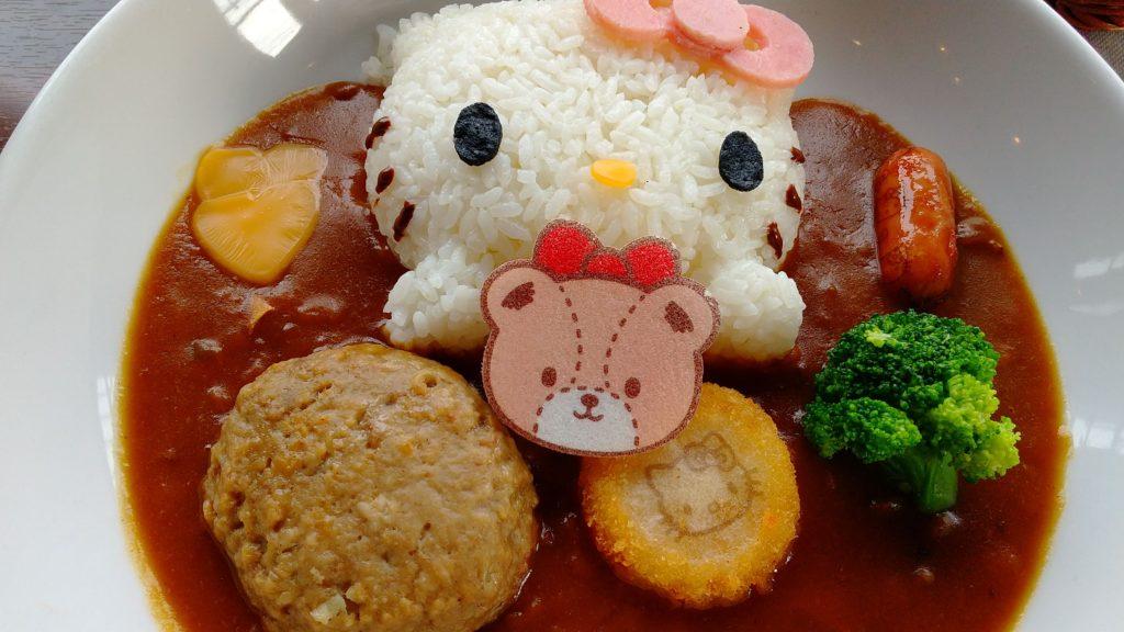 キティのハンバーグカレー1380円(税込)
