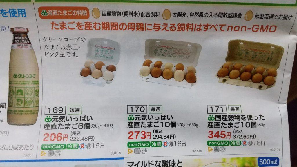 グリーンコープの卵のカタログ