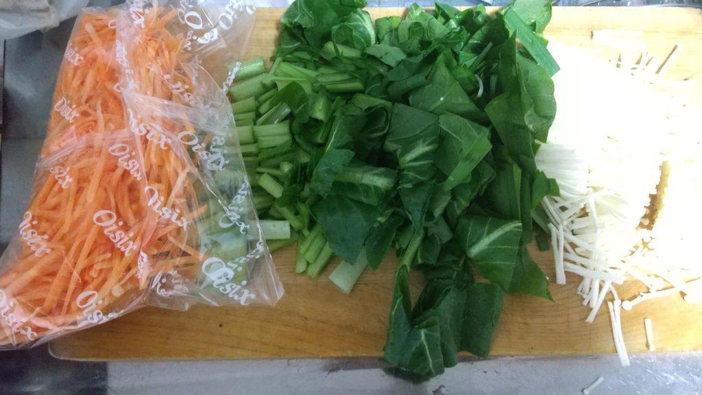 キットオイシックスの野菜を切った様子