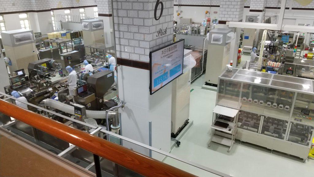 白い恋人パークの工場見学
